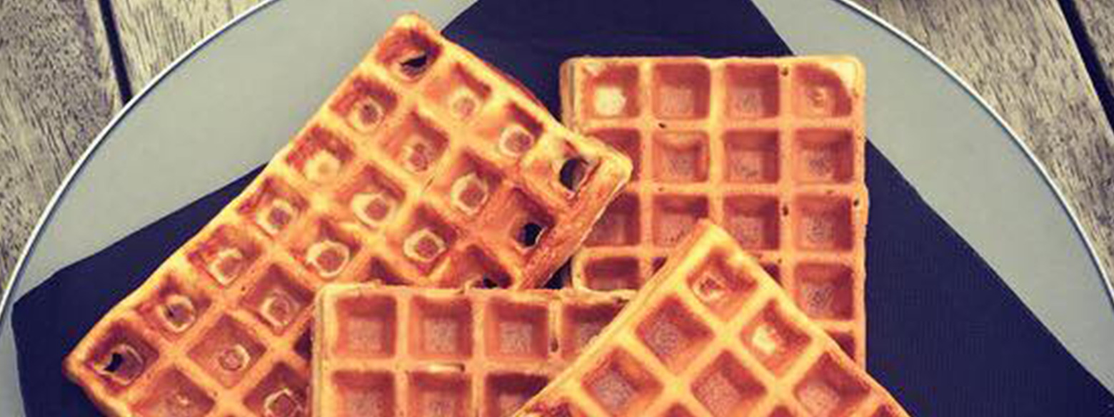 High Protein waffles with only 4 ingredients